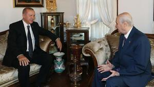 Cumhurbaşkanı Erdoğandan Bahçeliye ziyaret