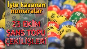 Şans Topu haftaya devretti 23 Ekim MPİ Şans Topu çekiliş sonuçları