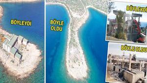 Bodrum'un kaçakları yıkıldı
