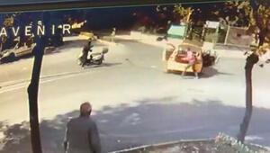 Beylikdüzünde taksici ile motosikletli kavga etti... O anlar kamerada...