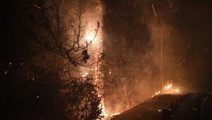 Yangın şiddetli rüzgar nedeniyle daha da yayıldı
