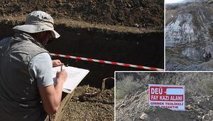 Manisa fayının geçmişini araştırmak için hendek açıldı