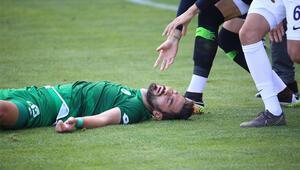 Sivas Belediyespor - Eyüpspor maçında korkutan görüntü