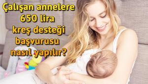 Çalışan annelere 650 lira kreş desteği başvuru şartları nedir Hangi illerde kreş desteği yapılacak
