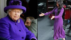 Elbisesiyle Kraliçeye mesaj göndermiş: Anlaşıldı mı majesteleri