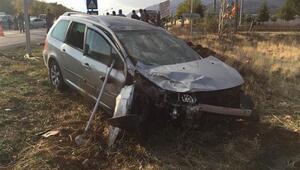 Kahramanmaraşta iki otomobil çarpıştı: 9 yaralı