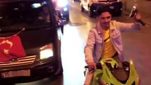İstanbulda asker uğurlamada magandalar trafikte havaya ateş açtı