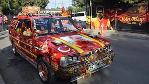 Galatasaraylı araba yine Floryada