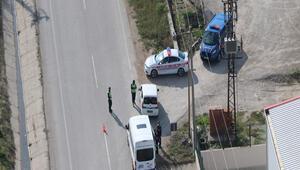 Çankakkalede helikopterli denetimde sürücülere ceza