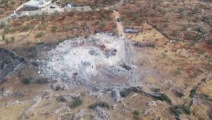 İdlibde Bağdadinin ölü ele geçirildiği yer havadan görüntülendi