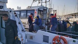 Çeşme açıklarında 58 kaçak göçmen yakalandı