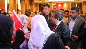 Diyarbakırdaki kabul törenine HDP önünde nöbet tutan aileler de katıldı