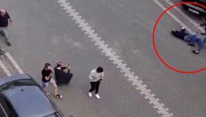5 kişinin yaralandığı silahlı kavga anları kamerada