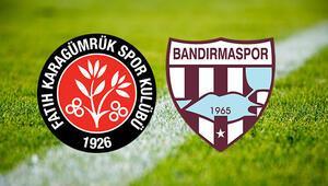Fatih Karagümrük Bandırmaspor maçı saat kaçta ve hangi kanalda