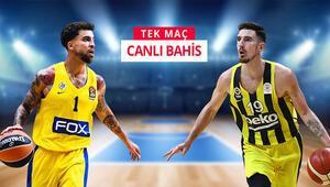 Fenerbahçe Beko, İsrail deplasmanında iddaada TEK MAÇ, CANLI BAHİS...