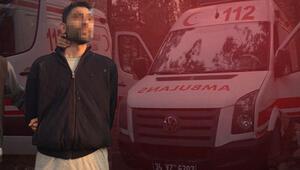 Ambulans çaldı, ifadesi şaşkına çevirdi