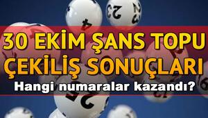Şans Topu sonuç sorgulama sayfası 30 Ekim MPİ Şans Topu çekiliş sonuçları