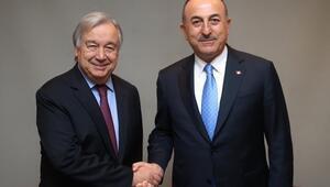 Dışişleri Bakanı Mevlüt Çavuşoğlu, Antonio Guterres ile görüştü