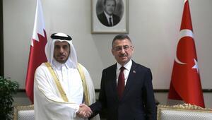 Cumhurbaşkanı Yardımcısı Oktay, Katar Başbakanı Al Sani ile görüştü