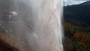 Şemdinli boru patladı, ilçe susuz kaldı
