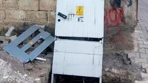 Kaçağı önleyen elektrik panolarına saldırı