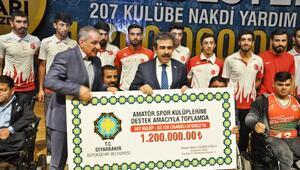 Diyarbakırda amatör spor kulüplerine katkı