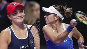 WTA Finallerinde ilk yarı finalistler belli oldu Kırmızı Gruptan Barty ve Bencic...