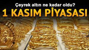 Gram altın cuma günü haftayı ne kadardan tamamladı 1 Kasım güncel çeyrek ve yarım altın fiyatları