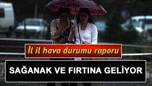 Meteorolojiden hafta sonu için yağmur uyarısı... 2 3 Kasım Türkiye geneli il il hava durumu tahminleri