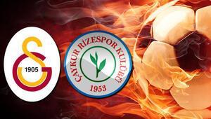 Galatasaray Çaykur Rizespor maçı ilk 11leri açıklandı Galatasaray Çaykur Rizespor maçı hangi kanalda saat kaçta