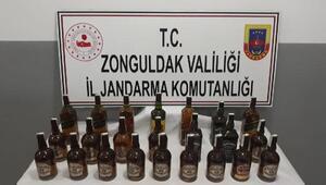 TIRda 23 şişe kaçak içki ele geçirildi