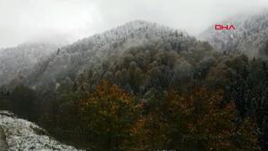 Ayderde kar yağışı başladı