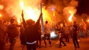Fenerbahçeye Kayseride meşaleli karşılama