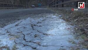 Kars eksi 11'i gördü, her yer buz tuttu