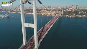 15 Temmuz Şehitler Köprüsü üzerinde kahvaltı keyfi