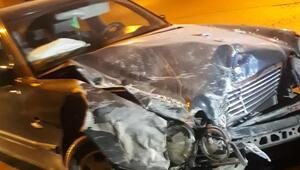 Tamir için bırakılan otomobil ile kaza yaptı
