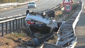 TIR'a çarptı, taklalar atarak sürüklendi: 1 ölü 5 yaralı…