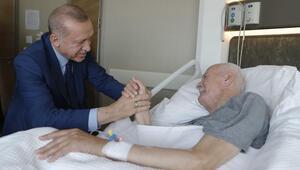 Cumhurbaşkanı Erdoğan, Şevket Kazanı ziyaret etti