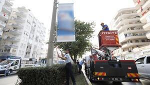 Mersin'de aydınlatma direklerine afiş asılamayacak