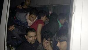 Tekirdağda 39 kaçak göçmen yakalandı; 2 organizatör gözaltında