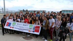 Yabancı öğrenciler Manisada atık su arıtma tesisini gezdi