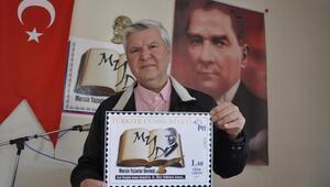 Mersin'de dernek logolu posta pulu hazırlandı