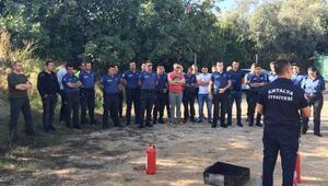 Polislere yangın eğitimi