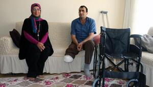 Mavi kapak toplayarak, ihtiyaç sahibine tekerlekli sandalye hediye etti