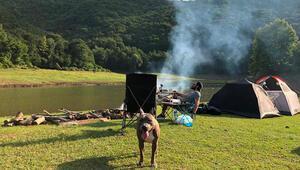 Ormanda 10 gün kamp yaptı
