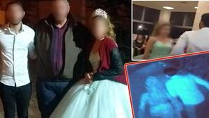 Düğünde inanılmaz anlar Çocuk gelin ve damat böyle kaçtı