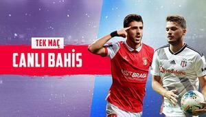 Beşiktaş 6 eksikle Portekizde iddaada Braga galibiyetine verilen oran...