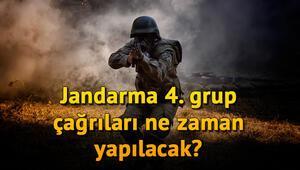 Jandarma uzman erbaş 4. grup çağrıları ne zaman yapılacak