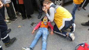 Ataşehirde 8 yaşındaki öğrenciye otomobil çarptı