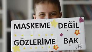 Lösemili Murata, okul arkadaşlarından maskeli destek